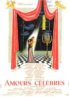 Amours célèbres - French Movie Poster (xs thumbnail)