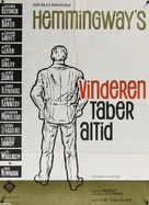 Hemingway's Adventures of a Young Man - Danish Movie Poster (xs thumbnail)
