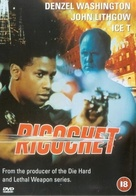 Ricochet - British DVD cover (xs thumbnail)