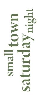 Small Town Saturday Night - Logo (xs thumbnail)