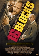16 Blocks - German Video release movie poster (xs thumbnail)