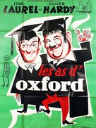 A Chump at Oxford - French Movie Poster (xs thumbnail)