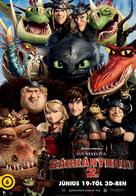 How to Train Your Dragon 2 - Hungarian Movie Poster (xs thumbnail)