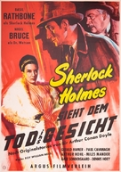 Sherlock Holmes Faces Death - German Movie Poster (xs thumbnail)