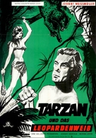 Tarzan and the Leopard Woman - German Movie Poster (xs thumbnail)