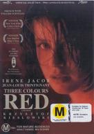 Trois couleurs: Rouge - New Zealand DVD cover (xs thumbnail)