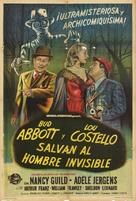 Abbott and Costello Meet the Invisible Man - Argentinian Movie Poster (xs thumbnail)