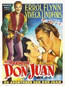 Adventures of Don Juan - Belgian Movie Poster (xs thumbnail)