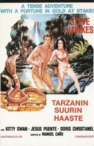 Tarzán en la gruta del oro - Finnish VHS movie cover (xs thumbnail)