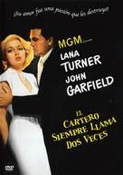 The Postman Always Rings Twice - Spanish DVD movie cover (xs thumbnail)