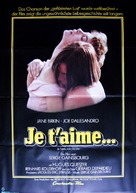 Je t'aime moi non plus - German Movie Poster (xs thumbnail)