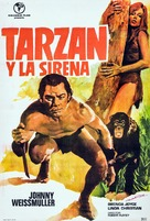 Tarzan and the Mermaids - Spanish Movie Poster (xs thumbnail)
