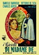 Madame de... - Italian Movie Poster (xs thumbnail)
