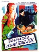 Sommarnattens leende - French Movie Poster (xs thumbnail)