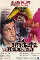 The Girl on a Motocycle - Argentinian Movie Poster (xs thumbnail)
