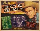 Sunset on the Desert - Movie Poster (xs thumbnail)