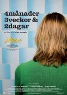 4 luni, 3 saptamini si 2 zile - Swedish Movie Poster (xs thumbnail)