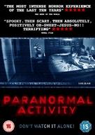 Paranormal Activity - British DVD cover (xs thumbnail)