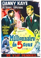 The Five Pennies - Belgian Movie Poster (xs thumbnail)