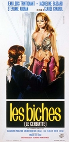 Les biches - Italian Movie Poster (xs thumbnail)