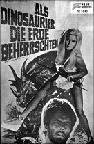 When Dinosaurs Ruled the Earth - German poster (xs thumbnail)