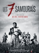Shichinin no samurai - French Re-release poster (xs thumbnail)