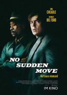 No Sudden Move - German Movie Poster (xs thumbnail)