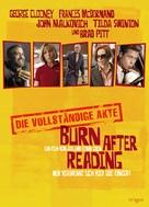 Burn After Reading - German Movie Poster (xs thumbnail)
