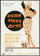 One, Two, Three - German Movie Poster (xs thumbnail)