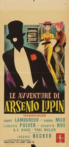 Aventures d'Arsène Lupin, Les - Italian Movie Poster (xs thumbnail)