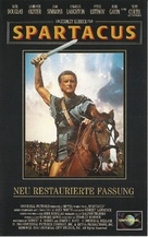 Spartacus - German VHS movie cover (xs thumbnail)
