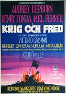 War and Peace - Swedish Movie Poster (xs thumbnail)
