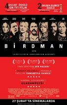 Birdman or (The Unexpected Virtue of Ignorance) - Turkish Movie Poster (xs thumbnail)