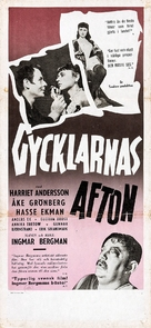 Gycklarnas afton - Swedish Movie Poster (xs thumbnail)
