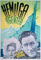 Northern Pursuit - Swedish Movie Poster (xs thumbnail)