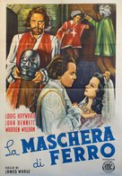 The Man in the Iron Mask - Italian Movie Poster (xs thumbnail)