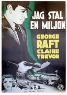 I Stole a Million - Swedish Movie Poster (xs thumbnail)