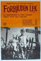Jeux interdits - Swedish Movie Poster (xs thumbnail)