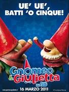 Gnomeo & Juliet - Italian Movie Poster (xs thumbnail)