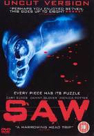 Saw - British DVD movie cover (xs thumbnail)