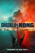 Godzilla vs. Kong - Swedish Movie Poster (xs thumbnail)
