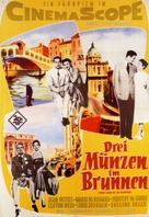 Three Coins in the Fountain - German Movie Poster (xs thumbnail)