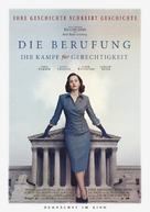 On the Basis of Sex - German Movie Poster (xs thumbnail)