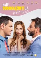 Kaip susigrazinti ja per 7 dienas - Lithuanian Movie Poster (xs thumbnail)