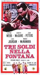 Three Coins in the Fountain - Italian Movie Poster (xs thumbnail)