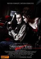 Sweeney Todd: The Demon Barber of Fleet Street - Australian Movie Poster (xs thumbnail)