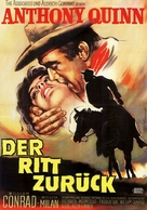 The Ride Back - German Movie Poster (xs thumbnail)