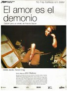 Love Is the Devil: Study for a Portrait of Francis Bacon - Spanish Movie Poster (xs thumbnail)
