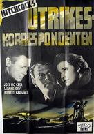 Foreign Correspondent - Swedish Movie Poster (xs thumbnail)