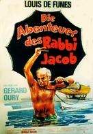Les aventures de Rabbi Jacob - German Movie Poster (xs thumbnail)